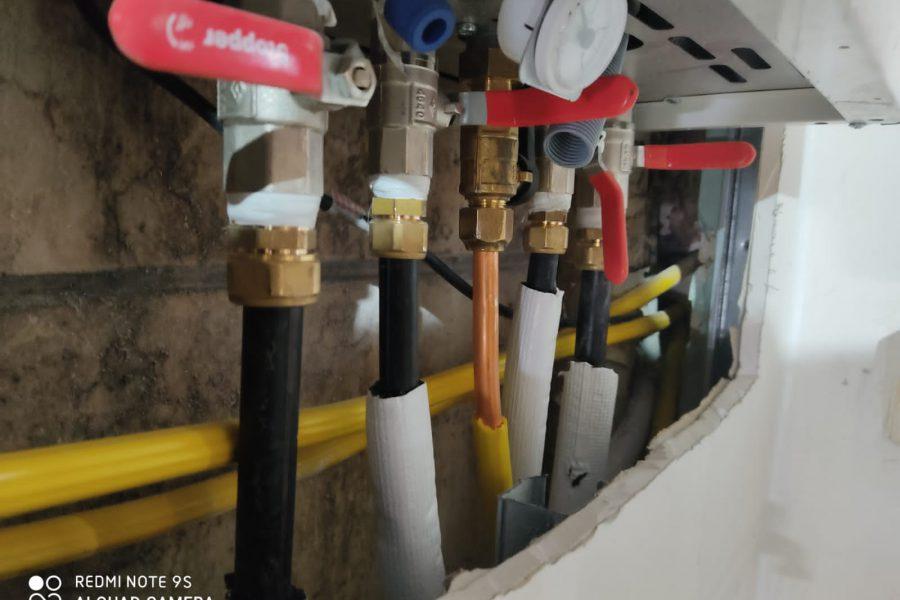 חיבורים לתנור גז משולב